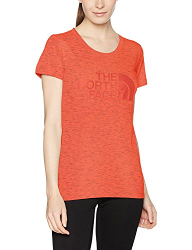 The North Face Easy T-Shirt Femme Cayenne Red/TNF Black Novelty