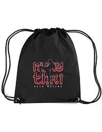 T-Shirtshock - Mochila Budget Gymsac TAM0136 muay thai kick boxing hoodie dark