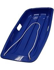 3 x trineo de plástico color azul y trineo trineos con cuerda para niños y niños