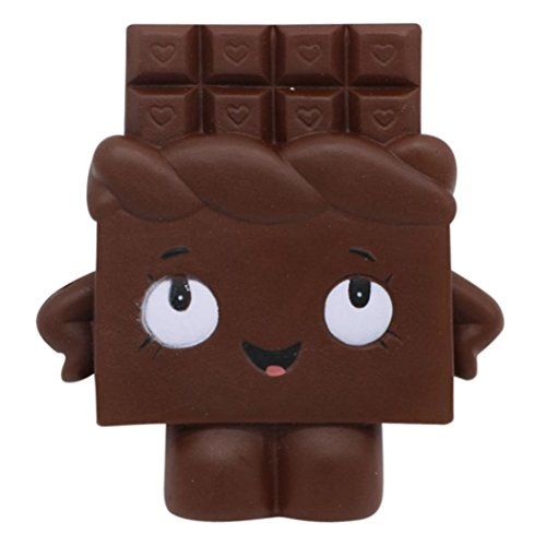JiaMeng Juguetes de descompresión Squishy Chocolate Toast Scented Charm Slow Rising Squeeze Stress Reliever Toy (Negro)