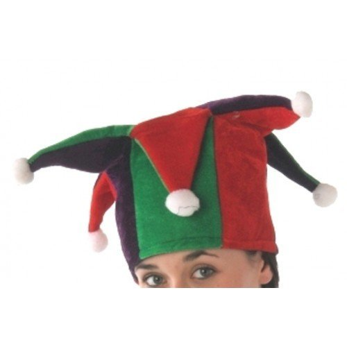 Jester Hat Tall with Multi Points Red & by ()