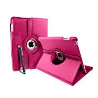 MOFREDŽ Case for Apple iPad Air with Built-in magnet for Auto Sleep and Wake Function + Screen Protector and Stylus Pen - rose iPad Air-??tui Rotating Case