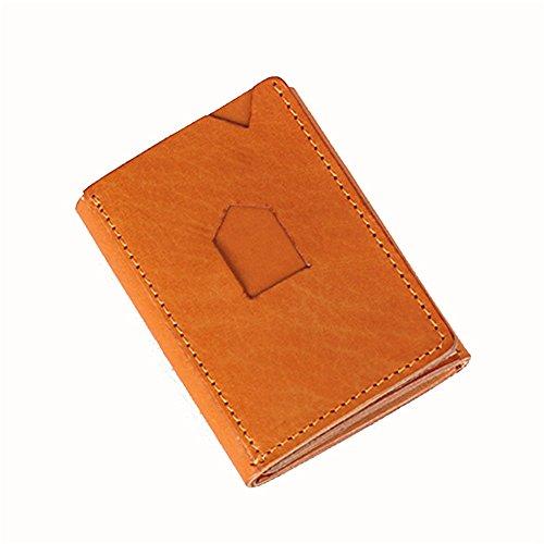 Xuanbao-WW Damen Kreditkartenetui Geldbörse Leder Männer und Frauen Geschäft Vertraglich Geldbörse Handtasche Portable Pocket Wallet Card Paket Zertifikat Paket Clutch Handtasche Leder Taschen