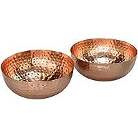 2er Set Moderne Design Dekoschalen In Kupfer Aus Metall. Marokkanischer  Stil, Deko Schüssel