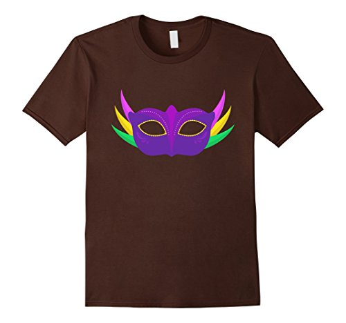 Ideen Mardi Gras Shirt (Mardi Gras Purple Mask with Feathers Gift Idea T-Shirt Herren, Größe M)