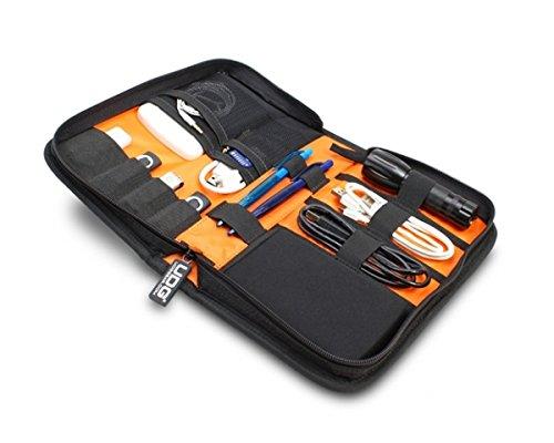 UDG Ultimate DIGI Wallet Small Black Orange Inside Borsa semirigida per Accessori, Nera interno Arancione