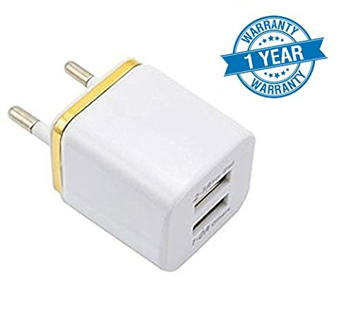 Twogood Universal 2.1/1A USB 2 Port Wall Home Travel Charger Adapter With Fast Charging Output Compatible With Compatible With Xiaomi Mi, Apple iPhone & iPad, Samsung, Sony, Lenovo, Oppo, Vivo and All Smartphones (1 Year Warranty, Assorted Colour)  available at amazon for Rs.199