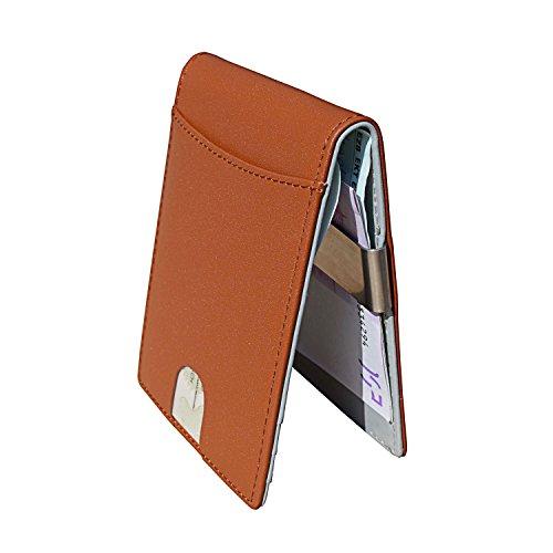 Geldbörse mit Geldklammer + RFID Schutz + Münzfach | Geldbeutel / Portmonee aus Echtleder für Herren / Damen | ideales Männergeschenk Test