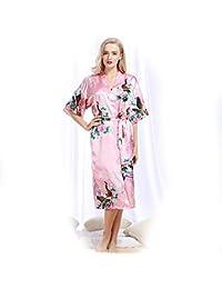 e18908efbad8 Fiore di Colore Vestaglia Bianca Kimono Donna Lungo Camice Camicia Elegante  Bianco da Notte Babydoll Lunga