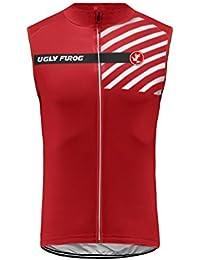 Uglyfrog Chalecos Ciclismo 2018 Primavera/Verano Moda Hombre Sin Mangas Jersey Ropa Bicicleta Transpirable Secado