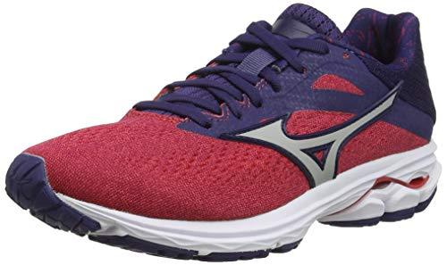 Mizuno Wave Rider 23, Zapatillas de Running para Mujer, Rosa (Hibiscus/VaporBlue/AstralAura 3), 37 EU