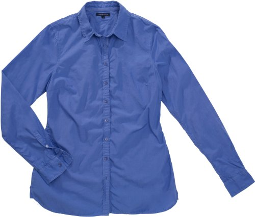 Tommy Hilfiger Damen TULIP GMT DYE SHIRT LS 1M87611251, Gr. 42 (XL / US12) (WASHED YALE BLUE 428)