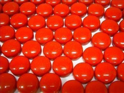 Round Mosaic Gems Red