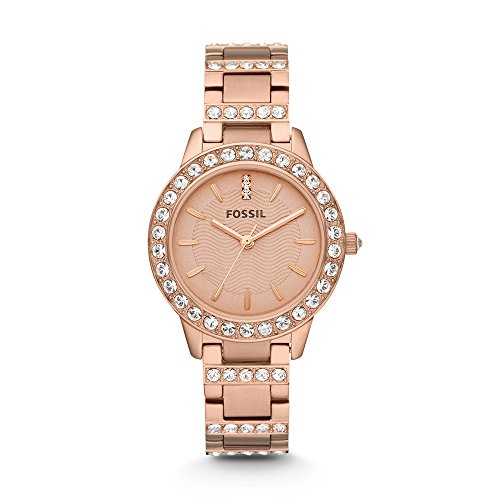 Fossil ES3020 Jesse Rose Gold Dial Women's Analog Watch image
