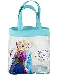 Preisvergleich für Disney Frozen Elsa Anna Charakter Shopper Tote Kinder Mädchen Blau PVC Hand tasche