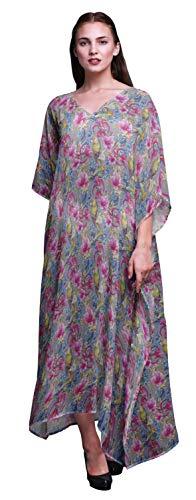 Bimba Vogel-Damen Plus Size Kaftan Sommer-Abnutzung Strand Coverup Kimono Kaftan-S-L -