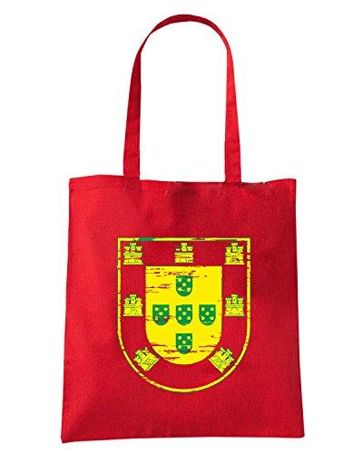 T-Shirtshock - Borsa Shopping WC0533 PORTUGAL T-SHIRT - VINTAGE PORTUGAL Rosso