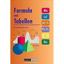 Formeln und Tabellen für die Sekundarstufen I und II.