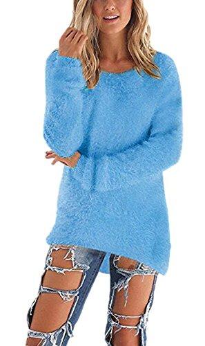 Damen Frauen Herbst Winter Spring Sweater Oberteile Langarm Strickwaren Warm Strickpullover Tops Lange Ärmel Jumper Pullover Bluse Jumper (Bluse Ärmel Wrap)