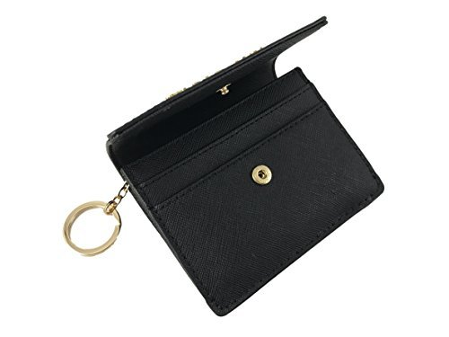 1240681ed63d Michael Kors Jet Travel Leather Credit Card Case ID Key Holder Wallet in  Black