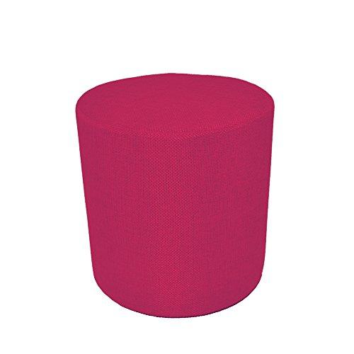 Arketicom Pouf cylindrique rouge en polyurthane haute densite et differentes dimensions 55x45 Rosa Fucsia
