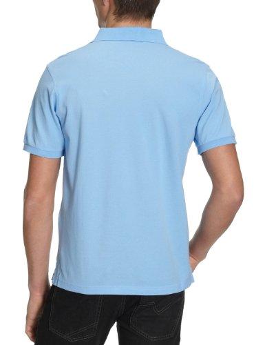GANT Herren Poloshirt SOLID PIQUE SS RUGGER Blau (CAPRI BLUE 468)