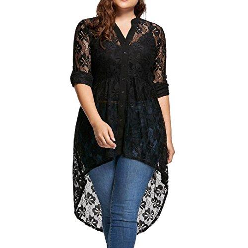 Meibax camicetta donna nera/bluse e camicie donna eleganti taglie forti/camicetta manica lunga/camicia in pizzo/top donna sexy prospettiva cime femminili