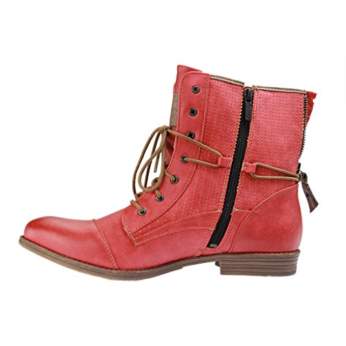 Mustang1157-503-259 - Stivali Donna Rosso (rosso-5)