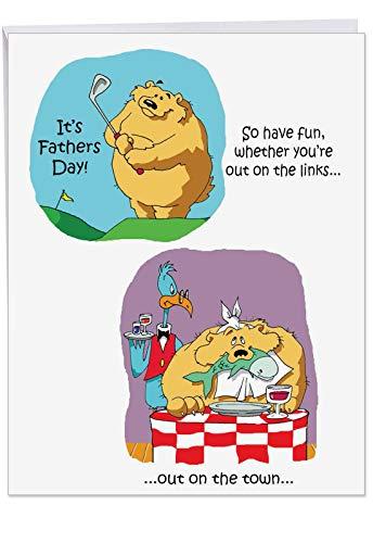 Kostüm Super Dad - Grußkarte für Vater auf Väter Tag-Funny New Nobleworks 1 Jumbo Father's Day Card & Enve. (J0238) 1 Jumbo Father's Day Card & Enve. (J0238)