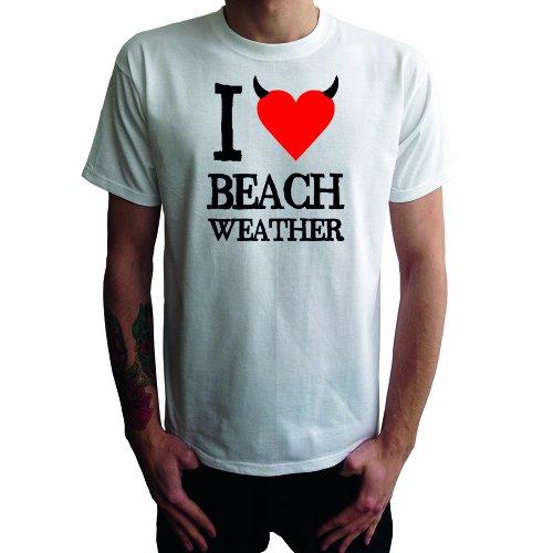 I don't love Beach Weather Herren T-Shirt Weiß