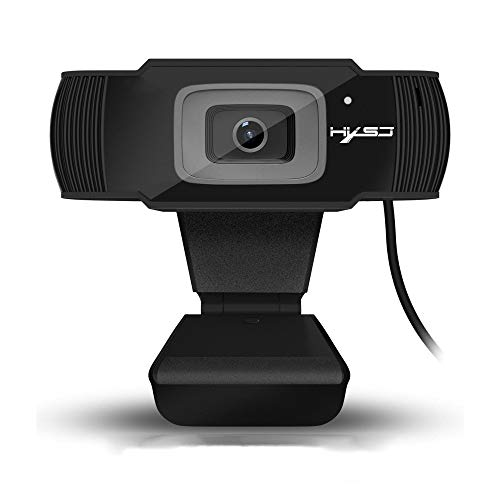 Price comparison product image LIGHTOP HD Webcam Plug and Play PC Computer Web cam Mini Camera with Microphone for Laptops and Desktop External Wired Web Camera for Skype YouTube Compatible with Windows 7 / 8 / 10.