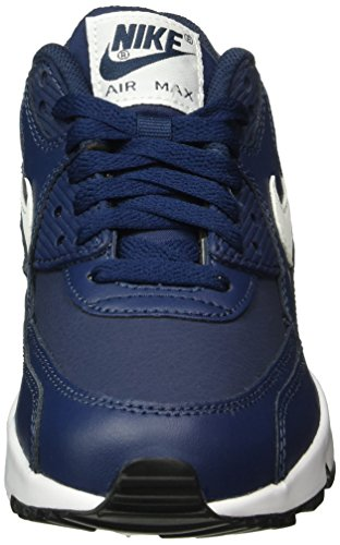Nike Unisex-Kinder Air Max 90 Leather (Gs) Shoe Low-Top Blau (400 MIDNIGHT NAVY/WHITE-BLACK)
