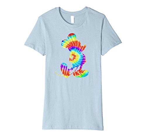 Womens Disney Tie-Dye Mickey Mouse T-Shirt Medium Baby Blue (Tie-dye Blue Baby)