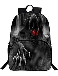 cee2386e61 xiaomin Kinderrucksack, Horror-SchäDel-Kinderrucksack Der Klassen 1 Bis 3  FüR Jungen Und MäDchen,P-30 * 16 *…