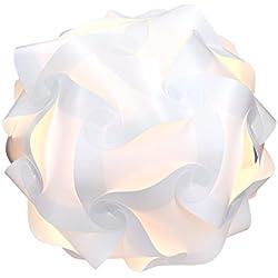 kwmobile Lampe puzzle abat-jour - Luminaire IQ plafond ou chevet - Lumière blanche - Taille M - Montage 30 pièces 15 modèles - Diamètre env. 27 cm