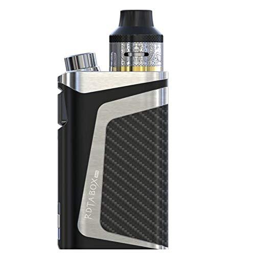 IJOY RDTA Box Mod Kit 100W E-Zigarette E Shisha RDTA All-in-one elektronische Zigarette mit VW/TC/Benutzer-Modi - Top Refill 2 ml - 2600mAh Akku - Kein Nikotin - Silber (Diy Box Mod)