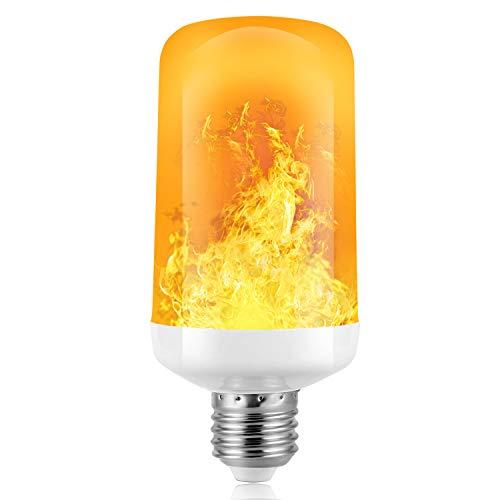 Flamme Glühbirne, Flammen Lampe,SS SHOVAN 4 Beleuchtungsmodi dekorative Atmosphäre Lampen für Indoor/Outdoor dekorative Lichter für Halloween/Weihnachten(W E27 Base) (1PCS)