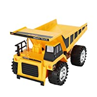 FHJZXDGHNXFGH-UK 4 Wheel Engineering Car Toy Model Wire Control Preschool Learning for Children Trucks Bulldozers Bulldozers Yellow