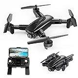 SNAPTAIN SP500 Faltbare GPS FPV Drohne mit 1080P Full HD-Kamera-Live-Video, GPS Drohne mit GPS-Heimkehr und Gestensteuerung, Kreis fliegen, Auto Hover und 5G WiFi Übertragung