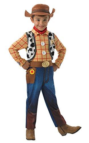 Rubies Offizielles Woody-Deluxe Kinderkostüm, Disney, Toy Story, Größe - Toy Story Fancy Dress Kostüm