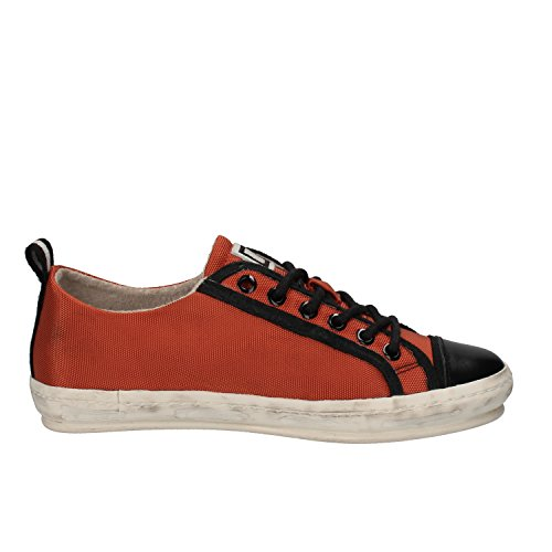 D.A.T.E. Sneakers Donna Tessuto Pelle Arancione/Nero