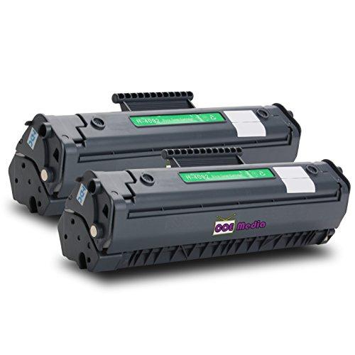 Toner Twin Pack kompatibel zu HP 92A / C4092A | 2x Schwarz...