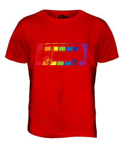 CandyMix Wohnmobil Regenbogen Herren T Shirt Rot