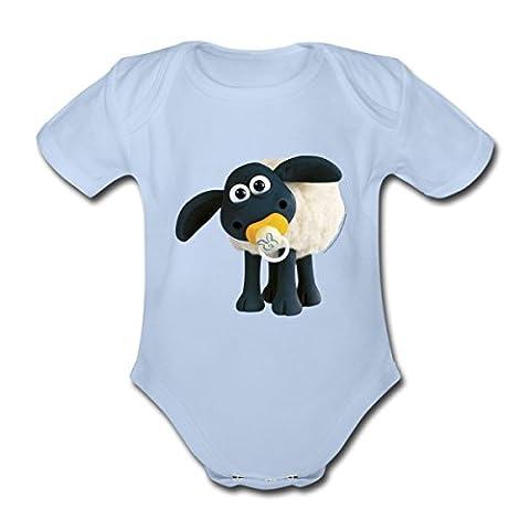 Timmy Shaun das Schaf Baby Bio-Kurzarm-Body von Spreadshirt®, 68 (3-6 M.), Sky