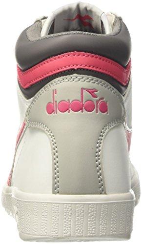 Diadora Game P High, Sneaker Col Roulé Mixte Adulte Blanc Cassé (Bianco/rosso Paradiso)