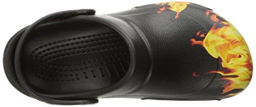 Crocs Bistro Graphic Clog, Sabots Mixte Adulte Noir (Black)