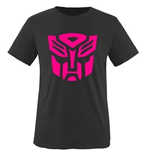 TRANSFORMERS - Kinder T-Shirt Schwarz / Pink Gr. 110-116 (Valentinstag T-shirts Für Kinder)