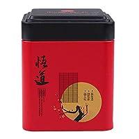 Gogogo BoîTe à Café, Carré Boîtes de Rangement thé en Fer,Sceller et étanche, Peinture écologique, sans goût,7 * 7 * 8.7 cm - Rouge