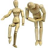 BXYWZXY 1 Pz 22 cm / 32 cm Manichino in Legno Modello di Disegno Manichino Maschio Umano Manichino snodato fantoccio Action Figure Art Drawing Sculpting Toy, 32cm