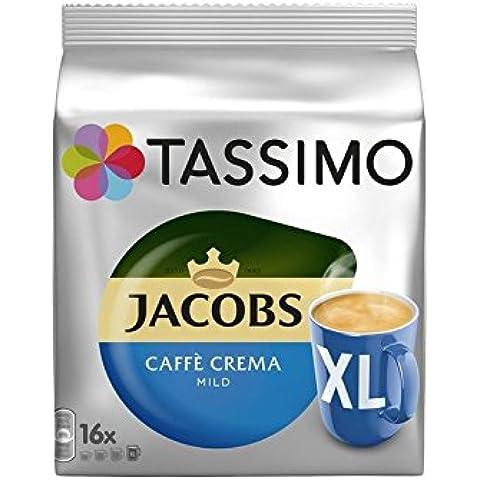 Tassimo Jacobs Caffè Crema Xl Leve (16 Porciones) (Paquete de 2)